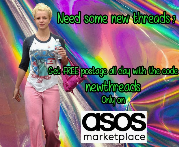 brittany spears, asos marketplace, the vinatge scene, promo code