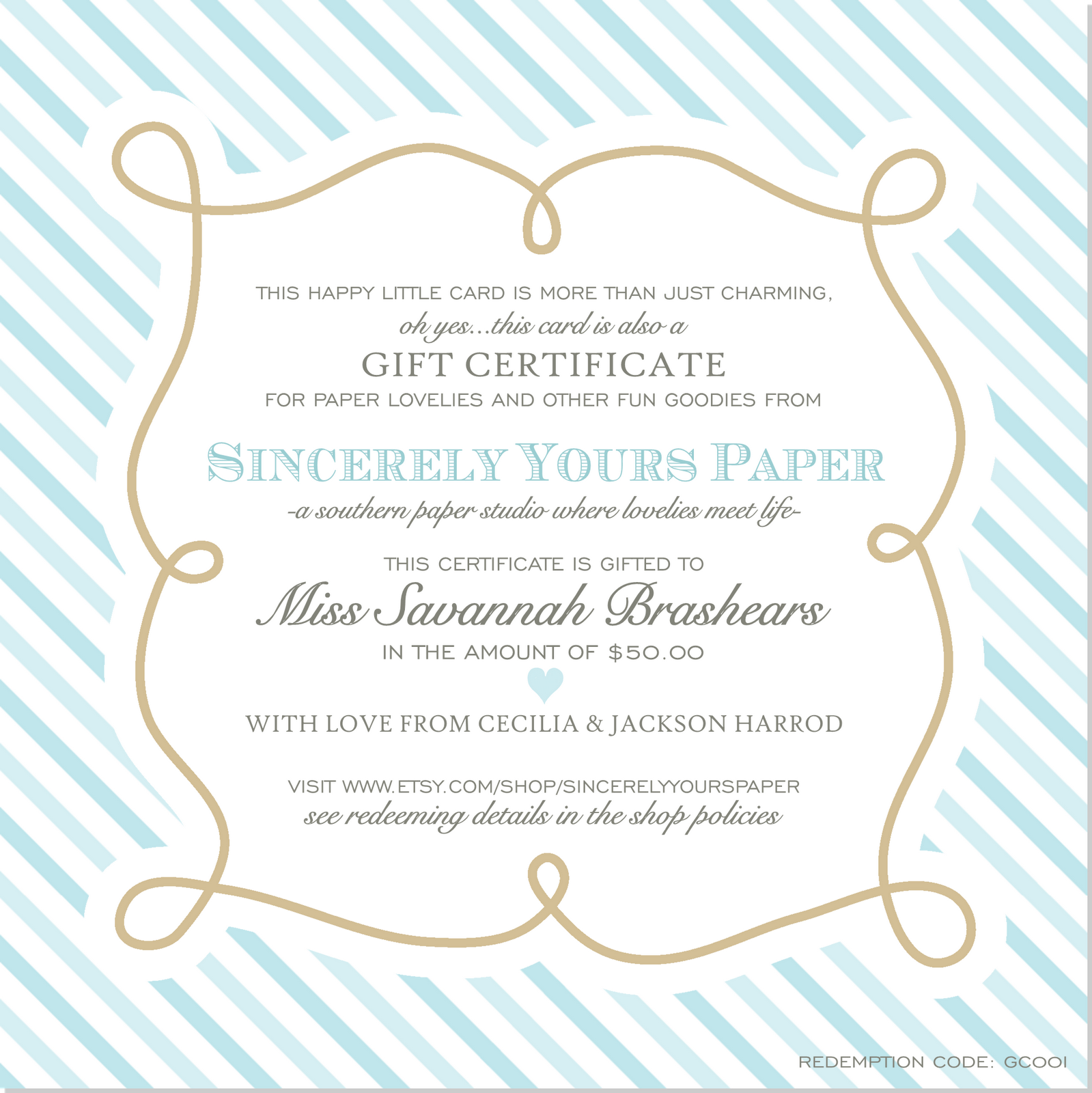 Gift Certificates Just in Time for Christmas Photography Gift Certificate Ideas