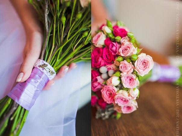 Как сделать букет невесты своими руками из живых роз кустовых