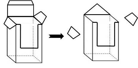 Siapkan bentuk persegi panjang, bisa dari kertas kado beberapa lapis