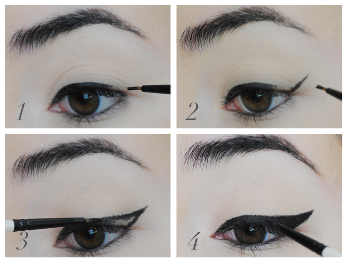 how to do a cat eye, how to do winged liner, eyeliner makeup tutorial
