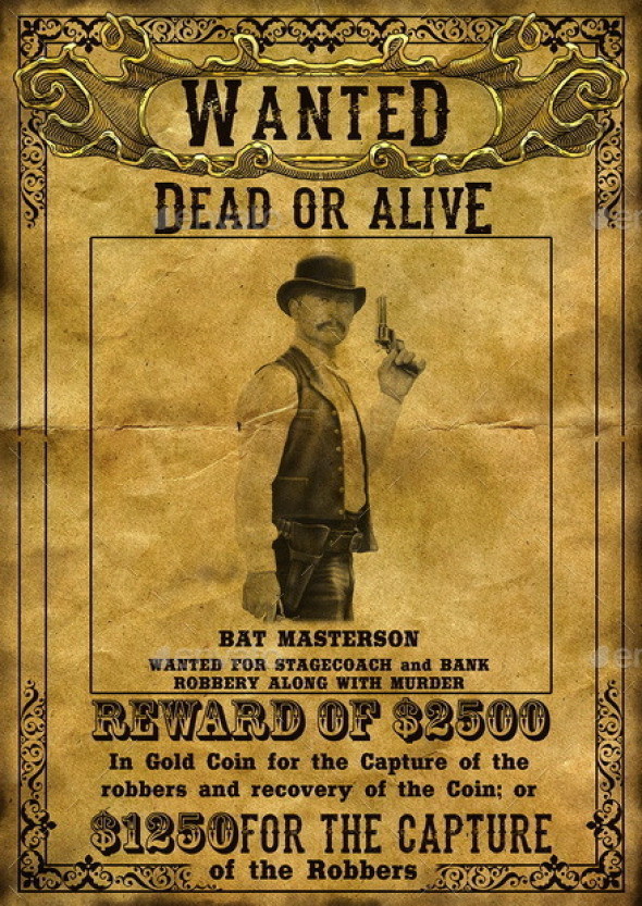 western wanted sign template | datariouruguay