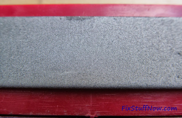 EZE-LAP DMD Fixed Angle Knife Sharpening System - Closeup Of Fine Stone
