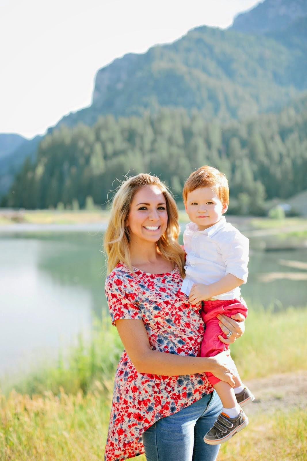 Landon and mom