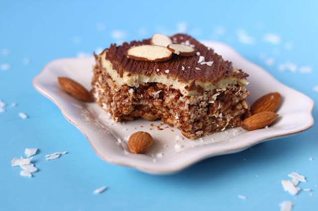 Healthy Almond Joy Krispy Treats