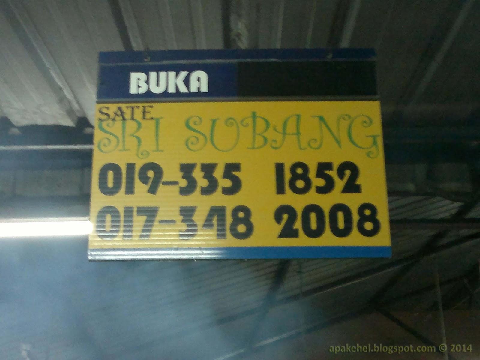 No telefon Satay Sri Subang