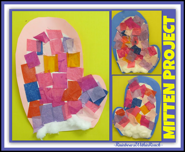 photo of: Open Ended Color Fun for Mitten Project in All Things Winter RoundUP from RainbowsWithinReach