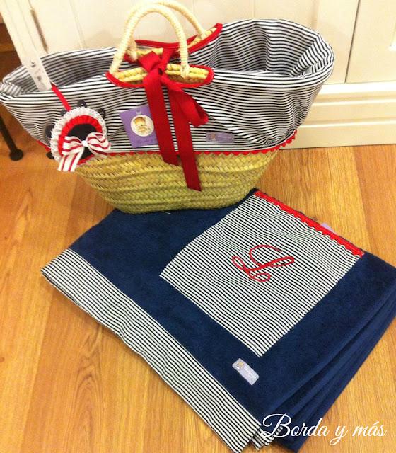toalla de playa marinera personalizada