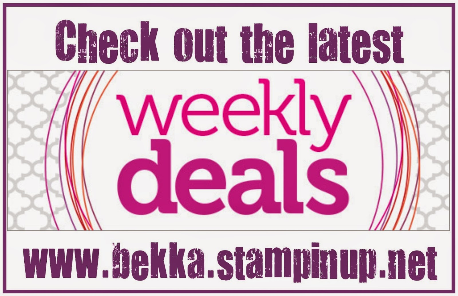 Weekly Deals - Buy your Stampin' Up! UK goodies here
