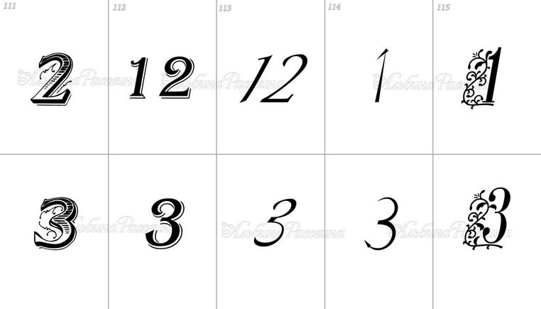 Цифры римские для фотошопа 2