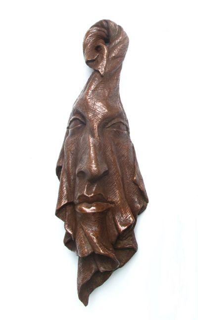 Michael Alfano esculturas de corpos rostos surreais bronze cobre
