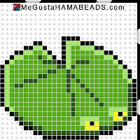 hama beads midi lilypad-body