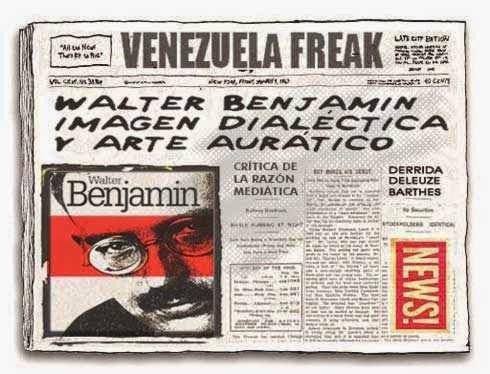 Front page tipo cómic sobre Walter Benjamin