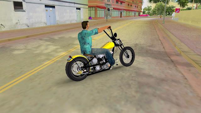 Harley Davidson Shovelhead Chopper GTA Vice City
