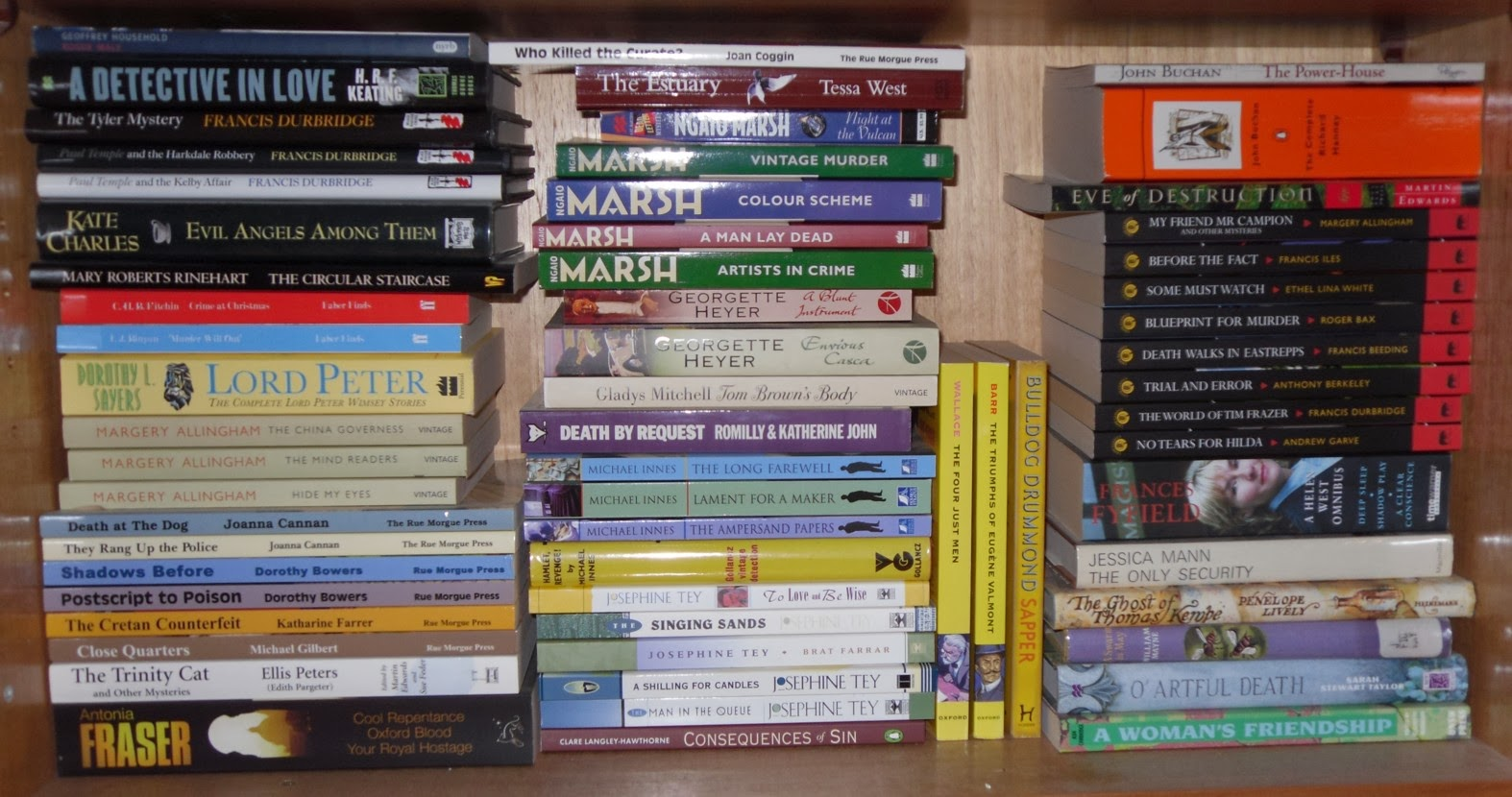 Virago (as Well As Some Books On Mostly Women's Literature You Can See By  The Spine Labels That I Rescued A Few Of These From My Library When They  Were