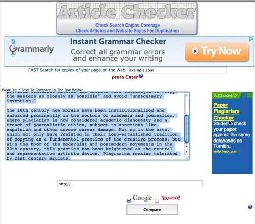 plagiarism checker for scientific paper What does the best plagiarism checker do the tools that compare your texts with millions scientific works our plagiarism tool check your paper for.