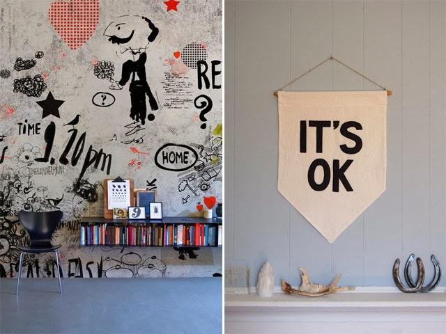 Blog maison - décorer un mur-cadres fils de fer