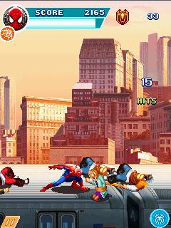 Screenshots of the The amazing Spider-man 2 for java mobile, phone.
