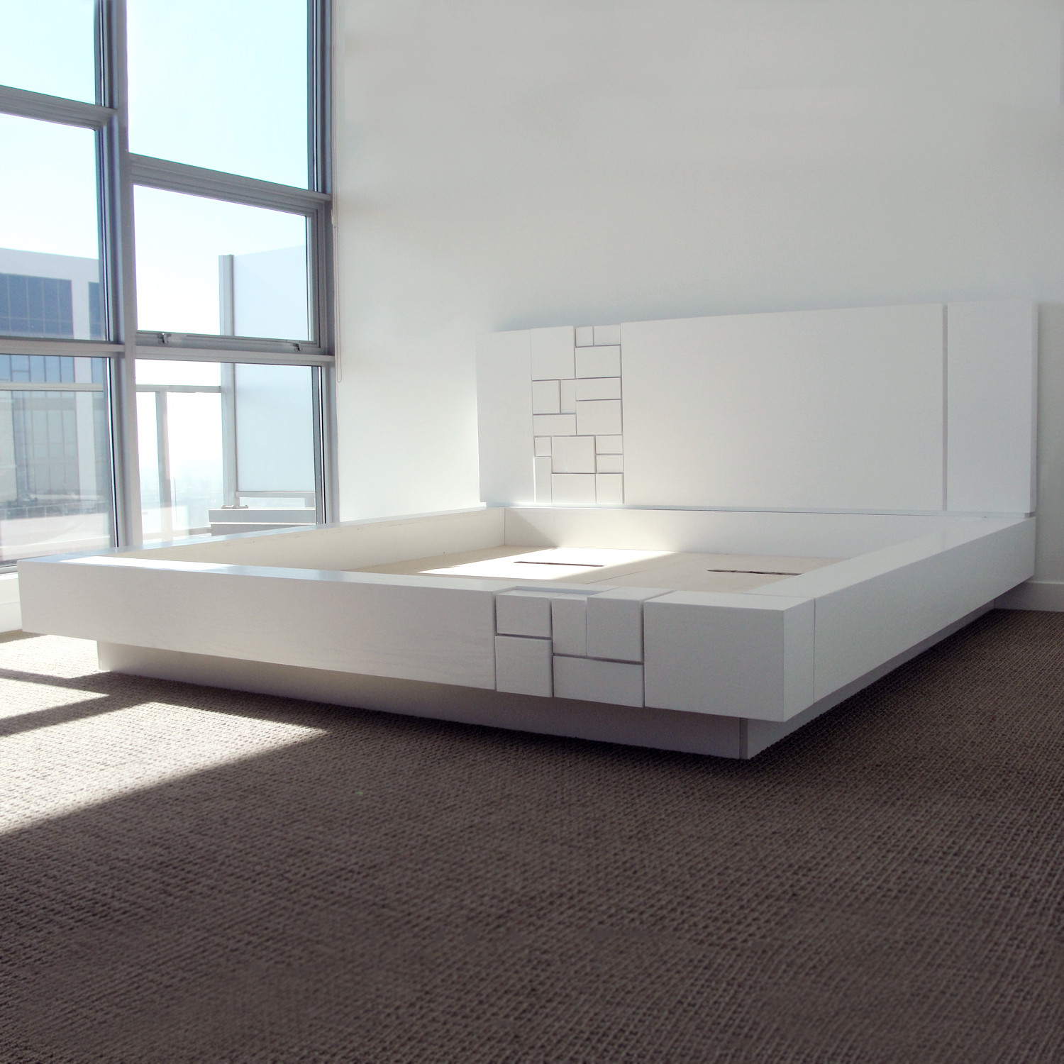 Abaci Bed - White by Farzan Nemat