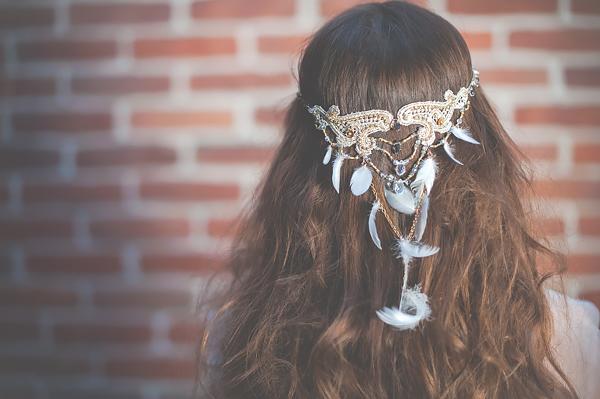 Biżuteria ślubna z piórami