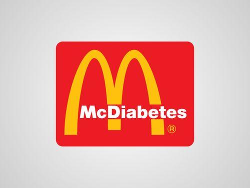 20 Logo Plesetan dari Perusahaan-Perusahaan Terkenal di Dunia: McDonalds - McDiabetes