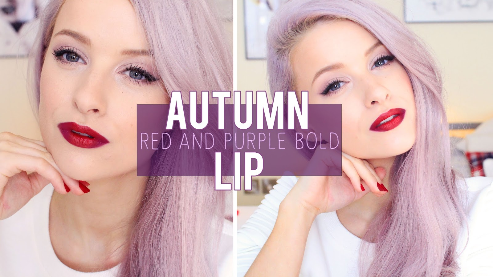 How To: The Bold Red and Purple Autumn Lip