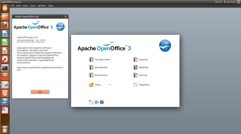Install Openoff...