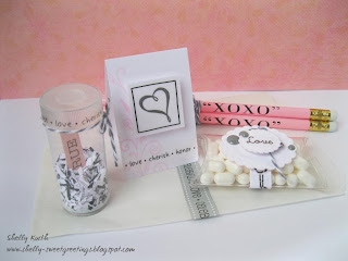 SRM Stickers Blog - Wedding Ensemble Tutorial by Shelly - #wedding #favors #Tiny Tube #card #pencils #Twine #stickers #pillow box #glassine bags