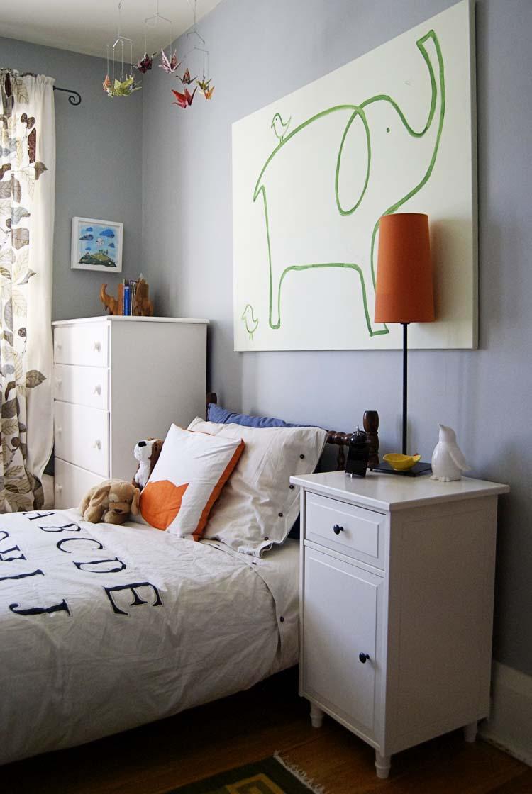 Orange and grey baby boy rooms