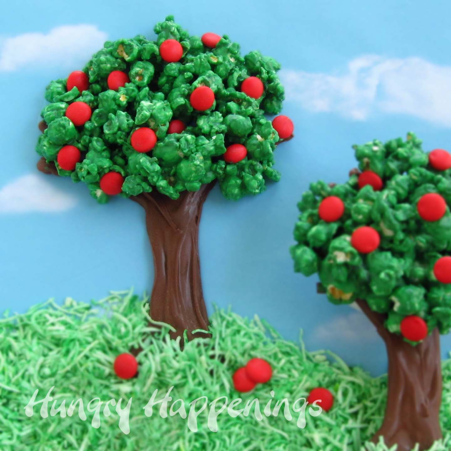 Chocolate Popcorn Trees - Hungry Happenings Recipes