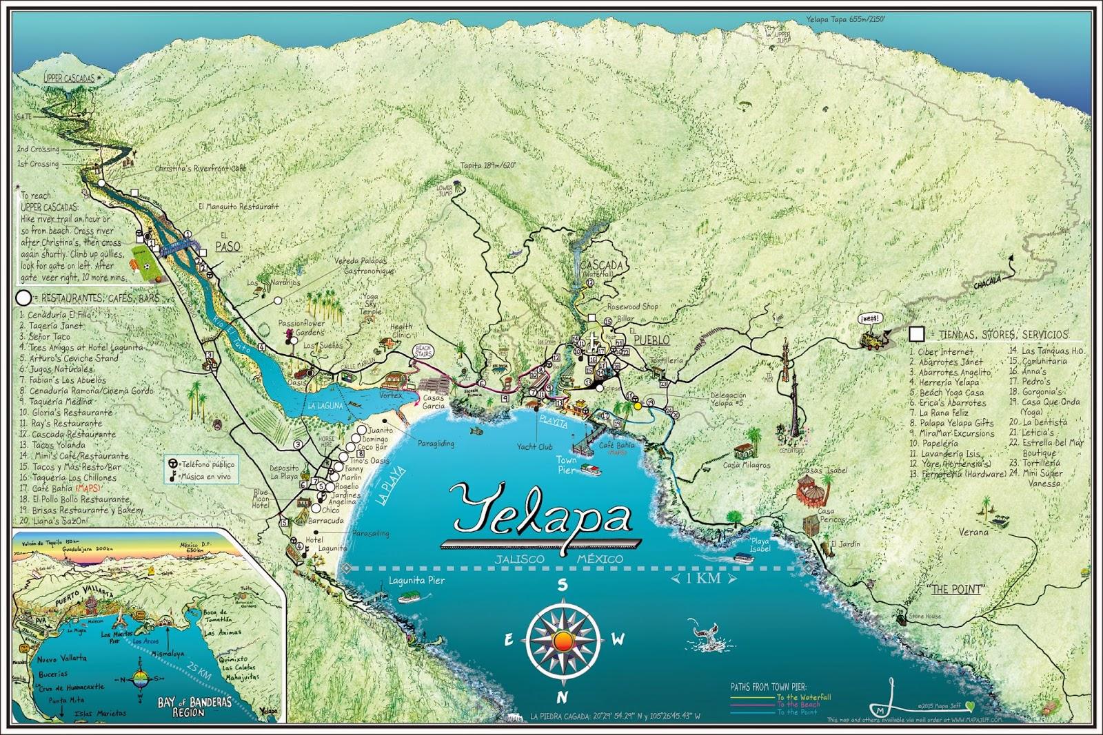 Mapa Jeff Cartography Yelapa 2015