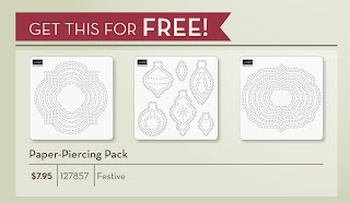 Free Paper Piercing Pack - Stampin'UP! October Christmas Gift