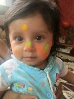 Sahana's First holi