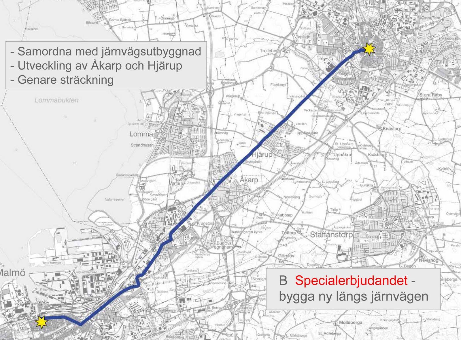 tåg malmö stockholm karta