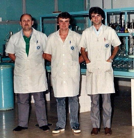 Airton Engster dos Santos no Laboratório da Granóleo SA em Estrela