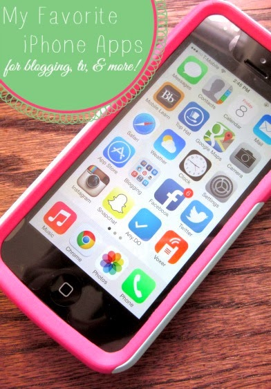 My Favorite iPhone Apps (for blogging, TV, & more!)