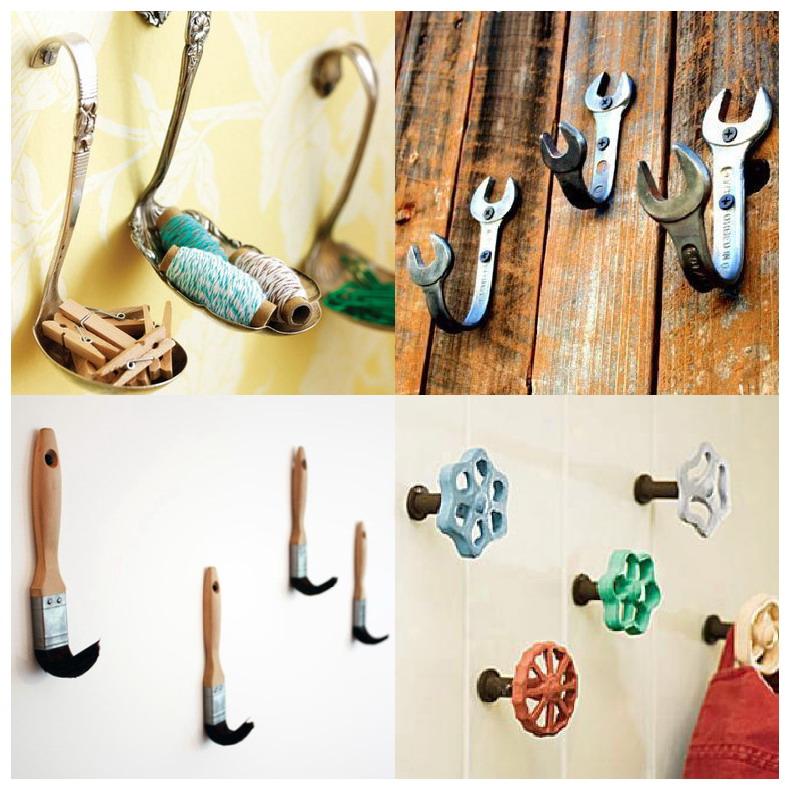 El mundo del reciclaje hazte unas perchas reciclando for Perchas para colgar llaves
