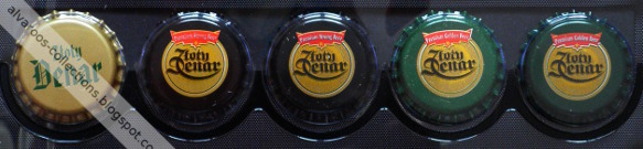 beer caps collection - Złoty Denar (Gold Dinar - many versions)