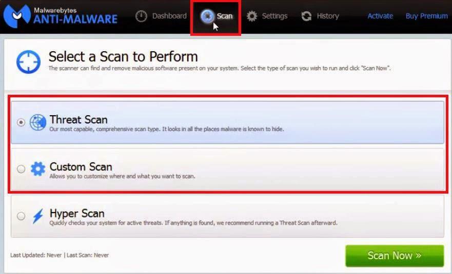 MalwareBytes Free Version - Verificação