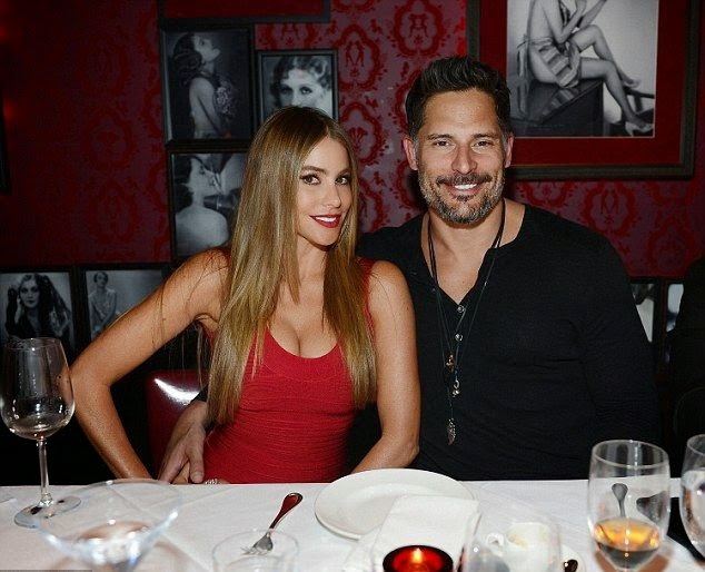 The lucky boyfriend, Joe Manganiello announced his engagement with Sofia Vergara that appropriate with the ending moment of 2014.  The 42-year-old seemed beauty in a red gown on Wednesday, December 31, 2014 as the couple celebrating the New Year's Eve at Las Vegas, NV, USA.