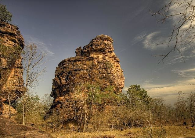 Exterior of Rock Shelters of Bhimbetka