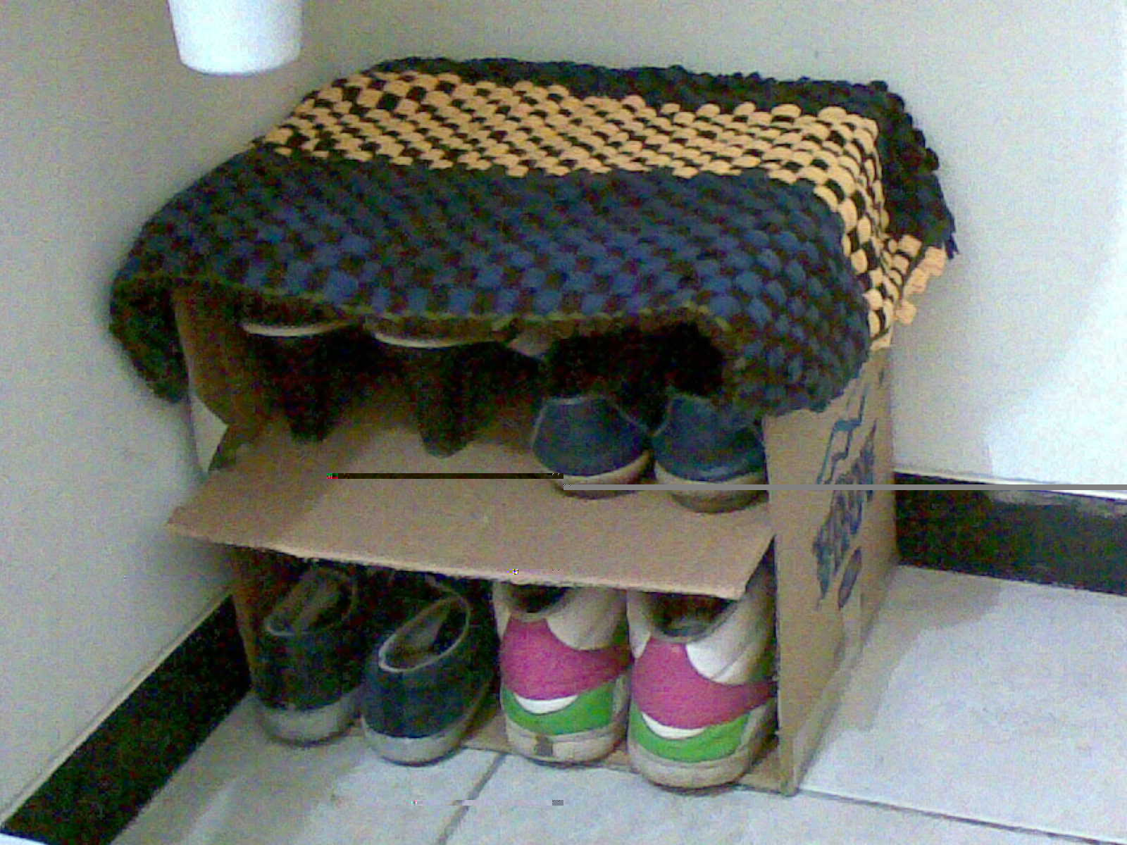 How To Make A Shoe Rack Diamond Shape Diy Shoe Rack