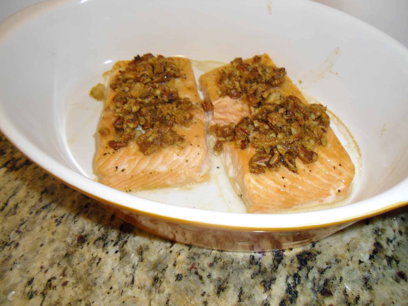 ... baked pecan crusted salmon my favorite way to make salmon i found