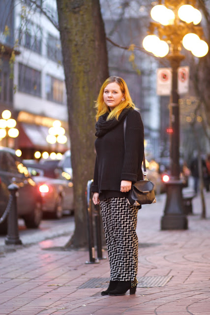 Shallynn Johnston Vancouver Gastown street style fashion Aveda printed pants