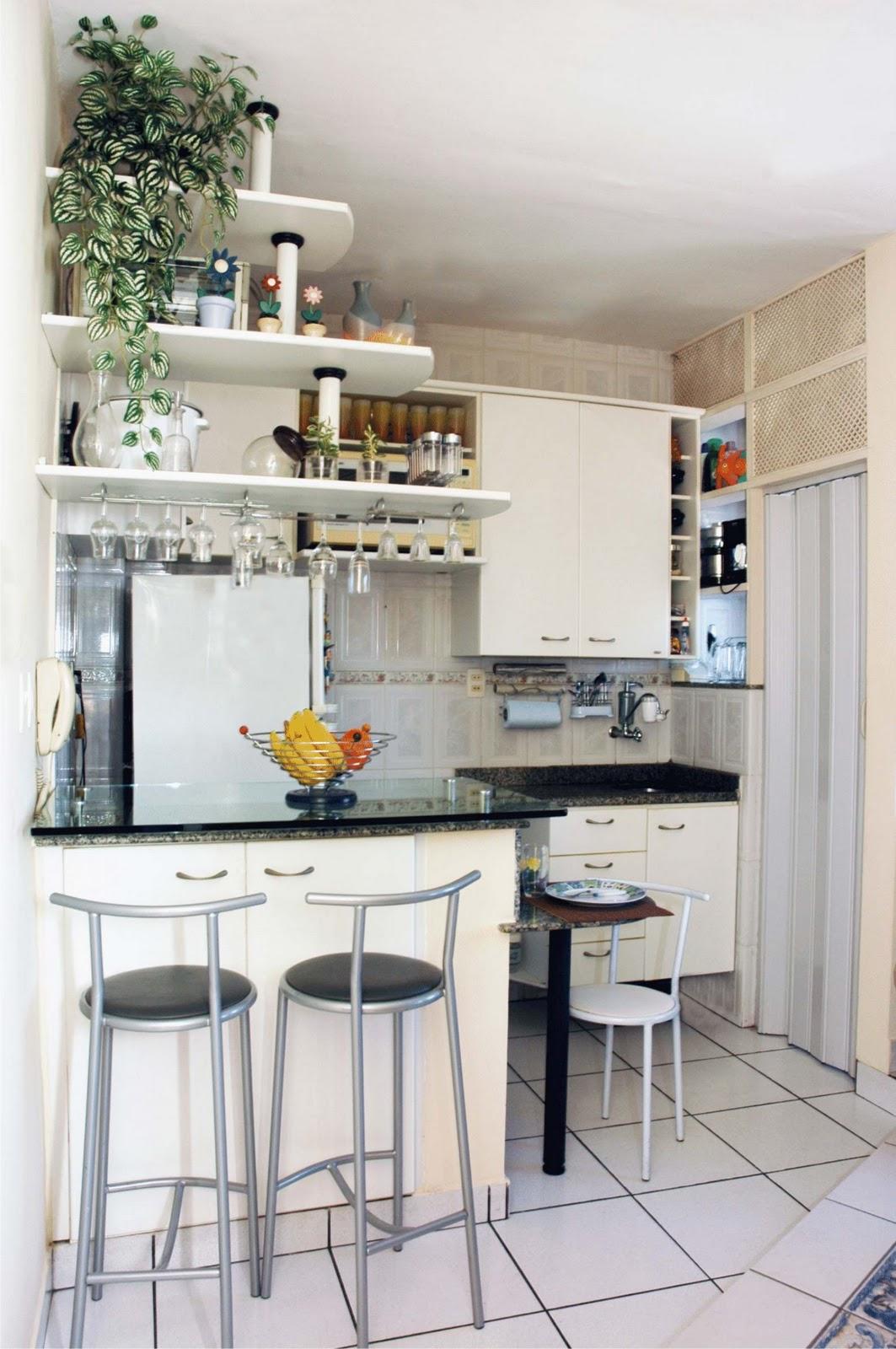 Decorao De Sala Pequena Com Cozinha Americana Simples Ideia De