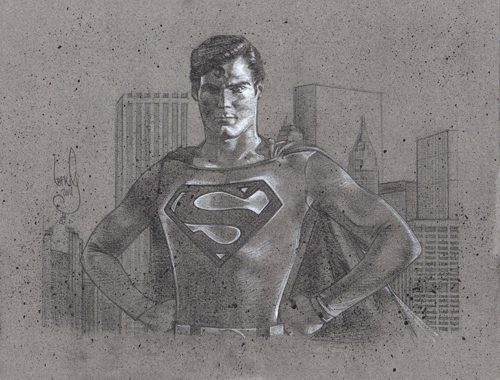 Christopher Reeves Superman, Artwork is Copyright © 2014 Jeff Lafferty