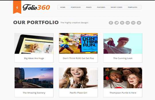 Folio360 Blogger Template