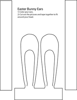 P skbloggen kanin ron for Bunny ears headband template
