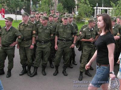 Гузель Камалеева перед строем