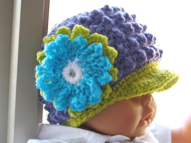 Crochet Baby Boy Visor Hat Pattern : Crochet Dreamz: Visor Beanie Crochet Pattern for Girls and ...